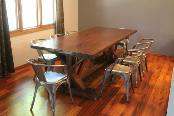 Reclaimed oak dining table / rustic table / kitchen table / dinner table /  reclaimed