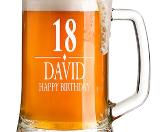 GD Engraved LIMITED EDITION BIRTHDAY Pint Glass Tankard Gift For Dad//50th//60th