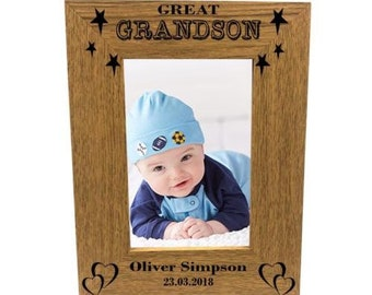 Personalised Gifts GreatGrandson Set Name A Star Box For Him Men Christmas