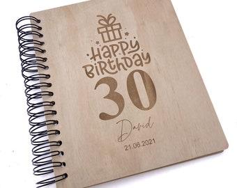 Personalised 21st Birthday Engraved Large Wooden Scrapbook Photo Album