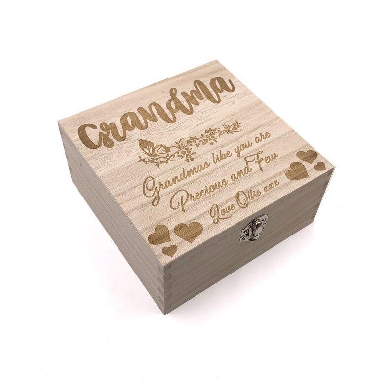 ukgiftstoreonline Grandma Gift Personalised Keepsake Box or Photo Box Gift