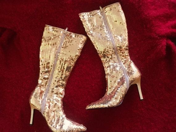 gold | glitter | boots