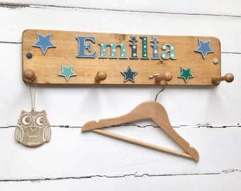 Childrens Coat Rack Etsy