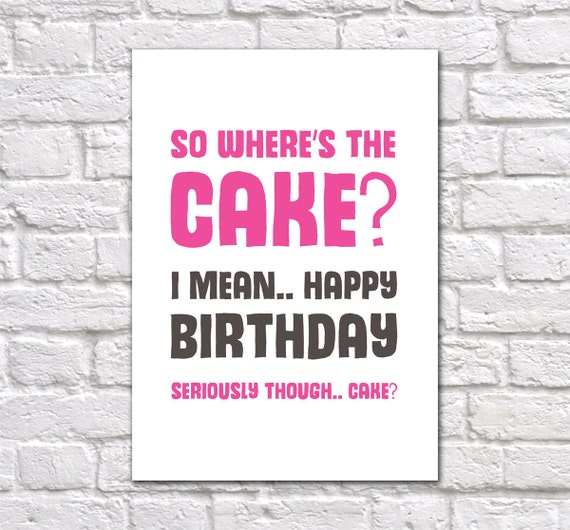 Cool Funny Birthday Card Friend Birthday Card Birthday Card For Etsy Funny Birthday Cards Online Inifodamsfinfo
