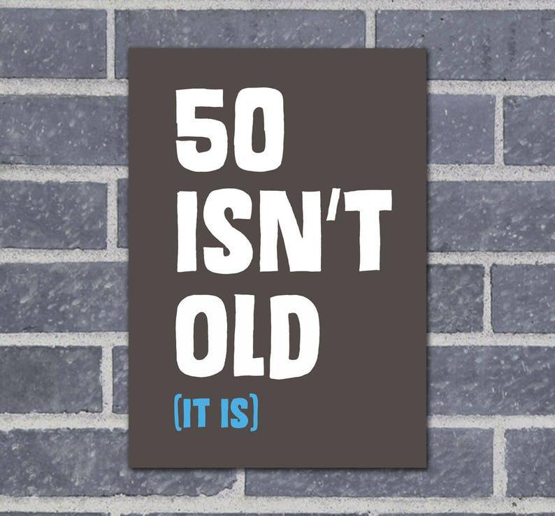 Dad 50th Birthday Card Funny Cards Husband