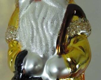 Glass 625 Ornament Father Christmas Santa Lantern Czech Republic Excellent