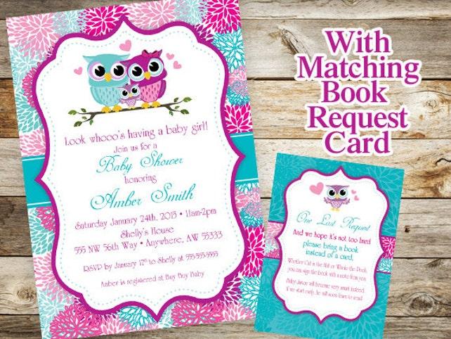 Owl baby shower invitation baby owl invitation spring baby etsy image 0 filmwisefo