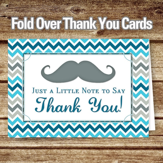 Mustache Thank You Cards Mustache Baby Shower Thank You Notes Etsy