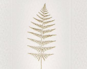 Gold Fern Foldover note