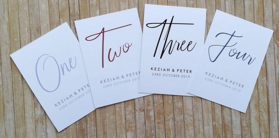 Personalised Modern Calligraphy Save the Date A7 Card with Gem