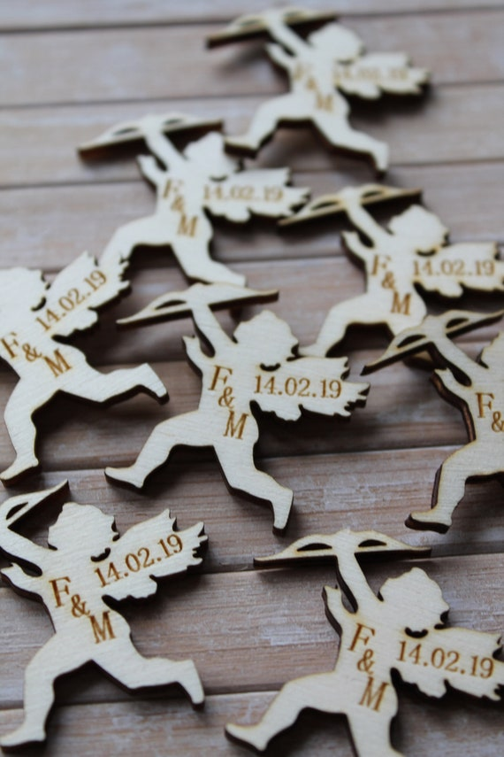 PERSONALISED Wooden Surfboard shaped Wedding//CP Table Confetti Scatter Favour