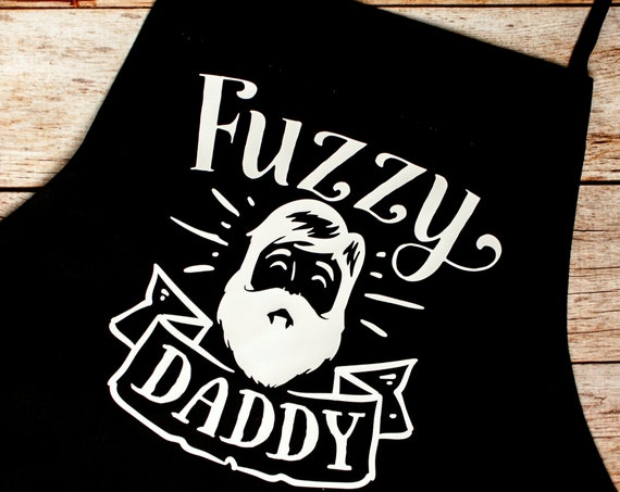 Father's Day,BBQ Apron, Fuzzy Daddy,Beard, Gift for Him, Grill Master, Bar-b-que pit, summer, outdoors, cook, chef, Father's Day Gift, Hairy