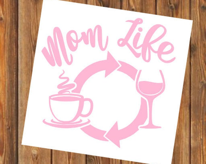 Free Shipping-Mom Life, Coffee Wine Repeat, Parenthood, Yeti Rambler Decal, Yeti Cooler, Laptop Sticker,She Believed, Boy Girl Both Mom