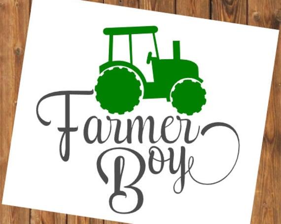 Free Shipping-Farmer Boy Yeti Rambler Tractor Decal Sticker, Yeti Farm Decal, Farming/Country Decal Sticker, Laptop Sticker,Farm Life