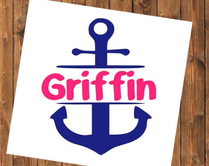 Free Shipping-Anchor Decal Sticker, YETI RTIC Cup Tumbler Anchor,Car Window Decal, Laptop Anchor Sticker Decal, Personalized Decal Sticker