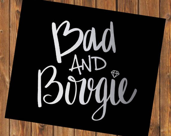 Free Shipping-Bad and Bougie Boujie Decal Sticker, Bad and Bougie Yeti Decal, Yeti RTIC tumbler laptop car Jeep window decal sticker