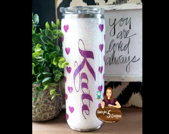 Valentine's Day Hearts Glittered Stainless Steel Tumbler/Yeti/Ozark Sparkle Cup, Wedding Engagement Anniversary Birthday Christmas Gift