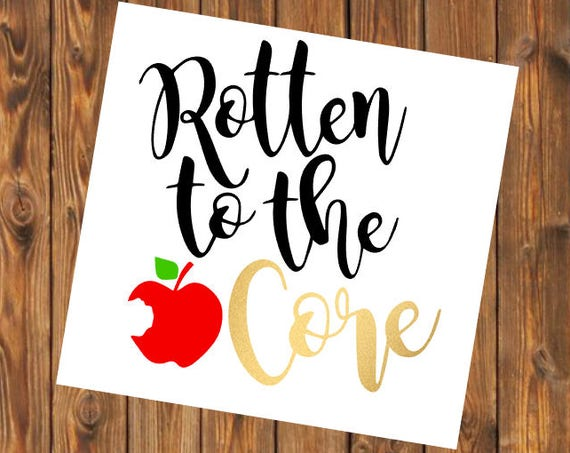 Free Shipping-Rotten to the Core, Snow White Princess Queen Yeti Decal, RTIC Corksickle Decal, Laptop Sticker, Southern Decal Sticker