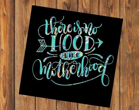 Free Shipping-No Hood Like Motherhood Cactus Dream catcher decal, Turquoise Native Indian Dreamcatcher Yeti RTIC SIC tumbler decal sticker