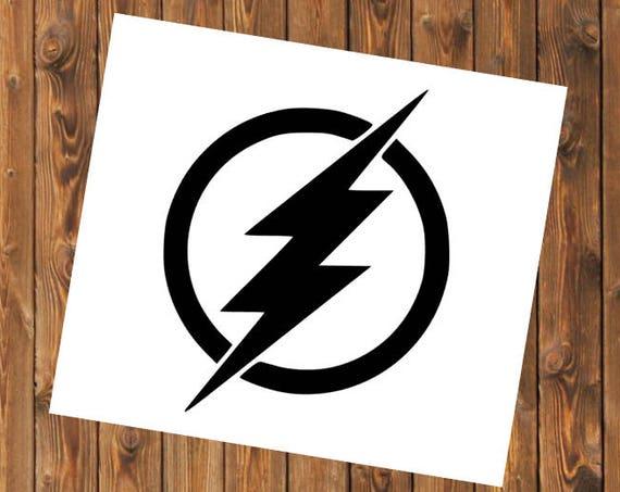 Free Shipping-Lightning Bolt Flash Superhero Decal Sticker, Yeti RTIC tumbler, car window, laptop computer sticker decal