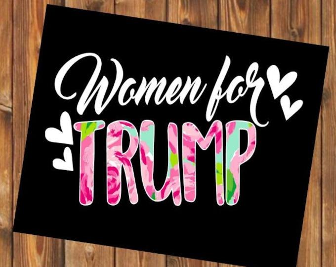 Free Shipping-Women for Trump Decal, Trump My President, Republican/Political Decal Bumper Sticker, Drain the Swamp, MAGA 2020