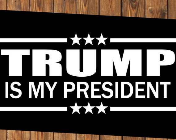 Free Shipping-Trump Decal, Trump is My President, Republican/Democrat/Political Decal Bumper Sticker, Drain the Swamp, Killary/Hillary Decal