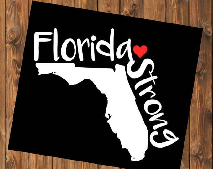 Free Shipping-Hurricane Irma, Florida Strong, Miami Strong Relief, Charity, Donation, Flood Support, Yeti Tumbler/Car Window Decal