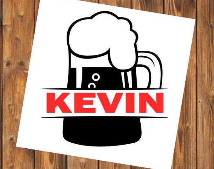 Free Shipping- Beer Mug, Pub, Bar, Booze, Guy's Night, Man Cave, Game Night, Birthday Gift for Him, Husabnd,Yeti RTIC, Laptop Sticker Decal