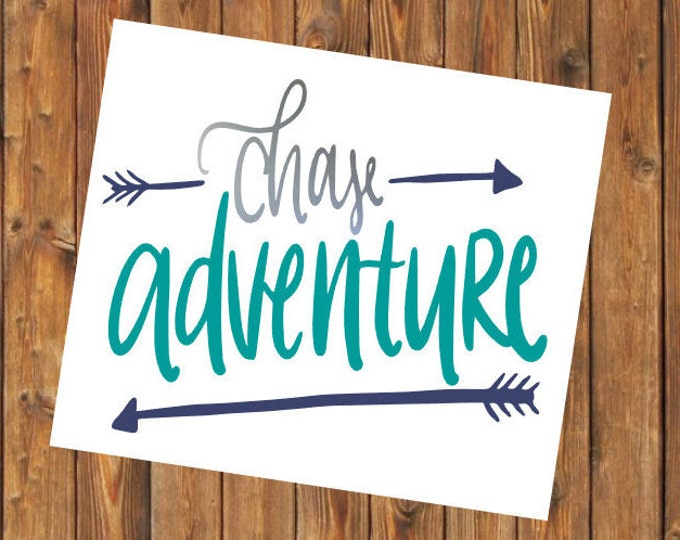Free Shipping-Chase Adventure, Summer Vacation Vacay, Adventure Life Travel Explore Arrows Cooler, Yeti, Laptop, Back to School Sticker