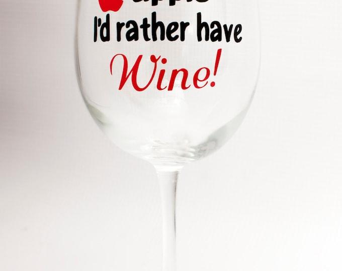Teacher Wine Glass/Teacher Appreciation/Christmas/Birthday/New School Year/End of Year Gift