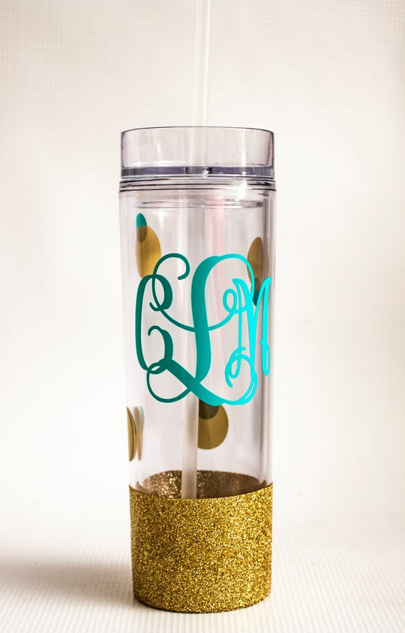 Glitter Dipped tumbler/ Monogram/ Monogrammed/ Personalized/ Newlywed/ Engagement gift