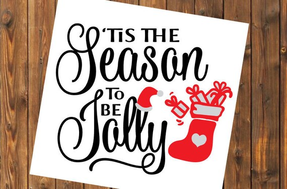 Free Shipping-Tis the Season to be Jolly, Christmas Decal Sticker, Christian, Manger, Nativity, Yeti RTIC SIC Tumbler Cup Decal