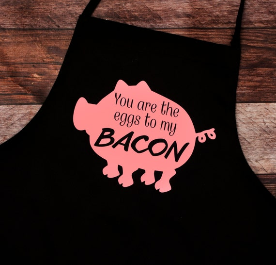 BBQ Apron, Bacon and Eggs, Pig, Hog, Father's Day,Gift for Him, Grill Master, Bar-b-que pit, summer, outdoors, cook, chef, Father's Day Gift