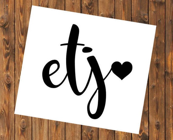 Free Shipping-Monogram Decal Heart, Yeti Decal, Vine Arrow Circle Monogram, Personalized, Cooler, Yeti, Laptop, Back to School Sticker