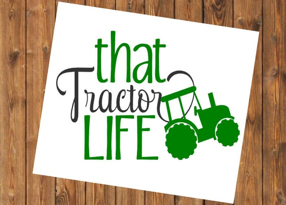 Free Shipping-That Tractor Life Yeti Decal Sticker, Yeti Cooler Farm Decal, Farming/Country Decal Sticker, Laptop Sticker,Farm Life