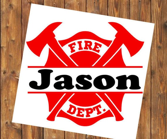 Free Shipping-Firefighter,Fireman, First Responder, Monogrammed Personalized, Yeti RTIC SIC, Laptop Sticker Decal