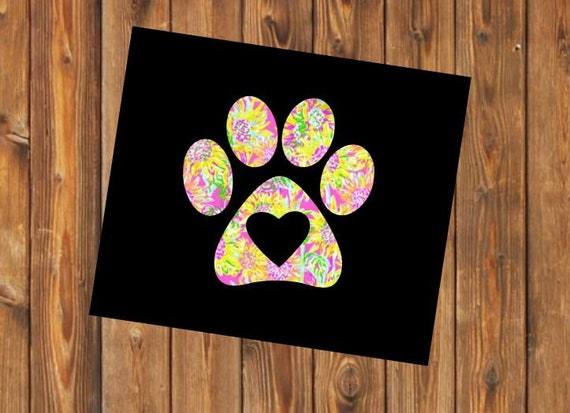 Free Shipping-Foster Mom Rescue Dog Cat Animal Lilly Print Decal, Paw print, Vet Tech, Tumbler Cup Car window Laptop Sticker