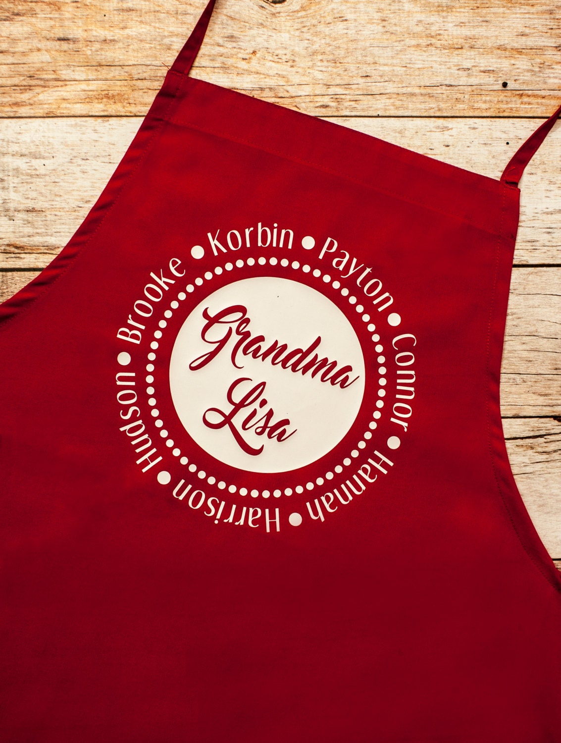 Grandmother Apron Personalized, Nana Mimi Grandma Christmas gift ...