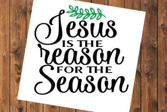 Free Shipping-Jesus is the reason for the season, Christmas Decal Sticker, Christian, Manger, Nativity, Yeti RTIC SIC Tumbler Cup Decal