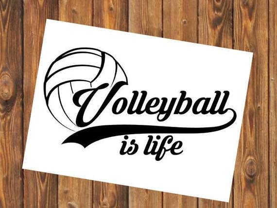 Free Shipping- Volleyball Yeti Decal Sticker, Coach, Sports Team, Elite, Yeti RTIC Water Bottle Decal Sticker