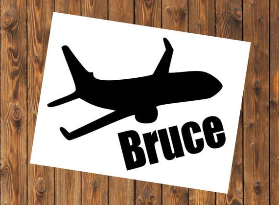 Free Shipping- Airplane Pilot Decal, Flying Airport Helicopter Plane Airplane Travel Decal Sticker, Yeti RTIC tumbler cup personalized