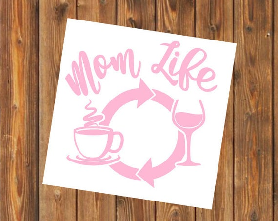 Free Shipping-Mom Life, Coffee Wine Repeat, Parenthood, Yeti Rambler Decal, Yeti Cooler, Laptop Sticker,She Believed, Boy Girl Both Mom