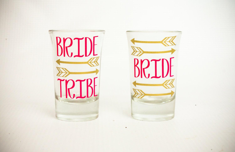 Bride Tribe Shot Glassbachelorette Partywedding Shot Glass