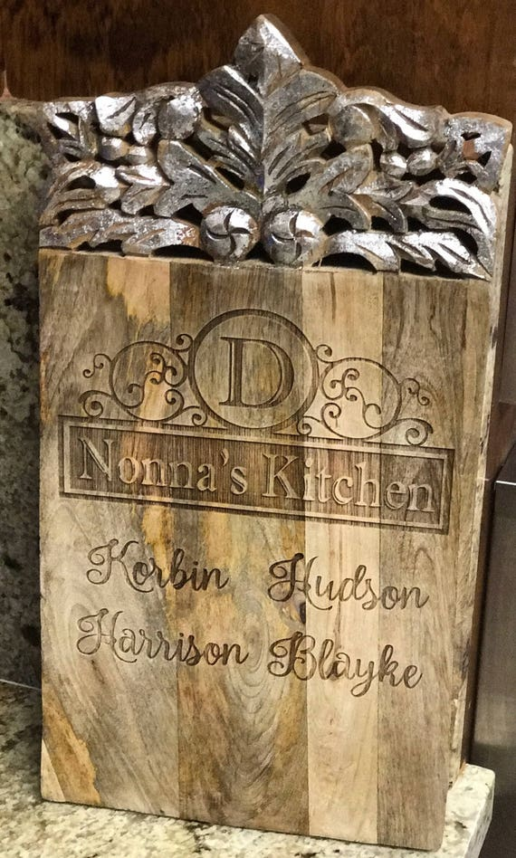 Free Shipping- Beautiful laser engraved cutting boards, grandparent, wedding, anniversary, shower gift, ready to ship in 3 business days