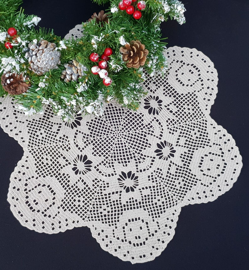 Regali Di Natale All Uncinetto.Decorazione Di Natale Centrino Di Natale All Uncinetto Angeli Di Natale Uncinetto Angeli Arredamento Rustico Di Natale Regali Di Natale Centrino