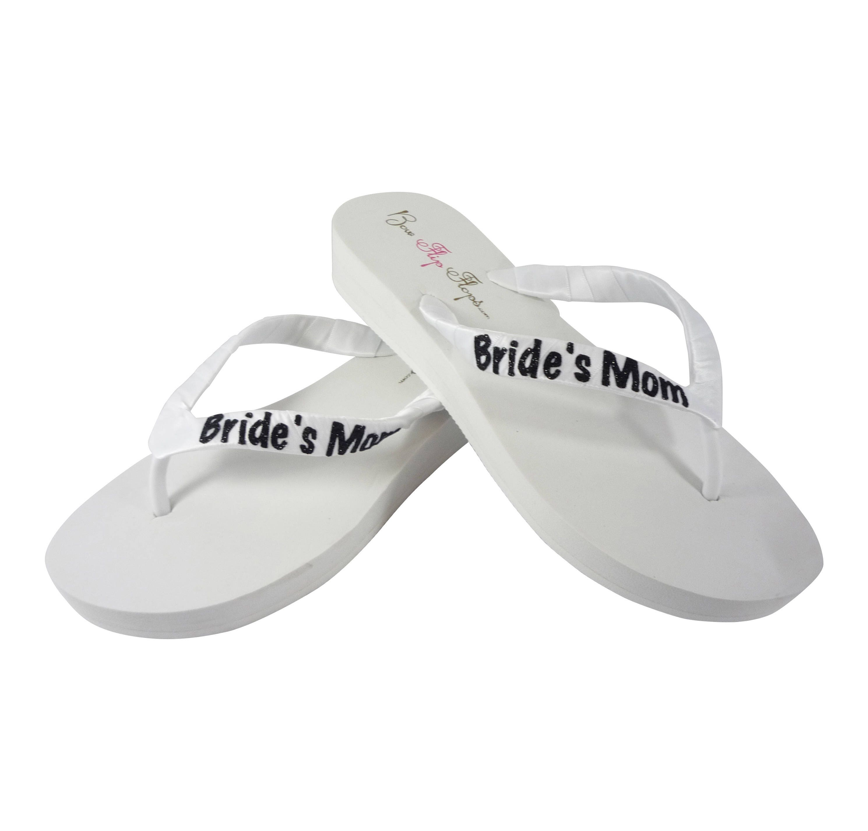 e3e1273f22c Bride s Mom Flip Flops  Groom s Mom Wedges  Ivory .
