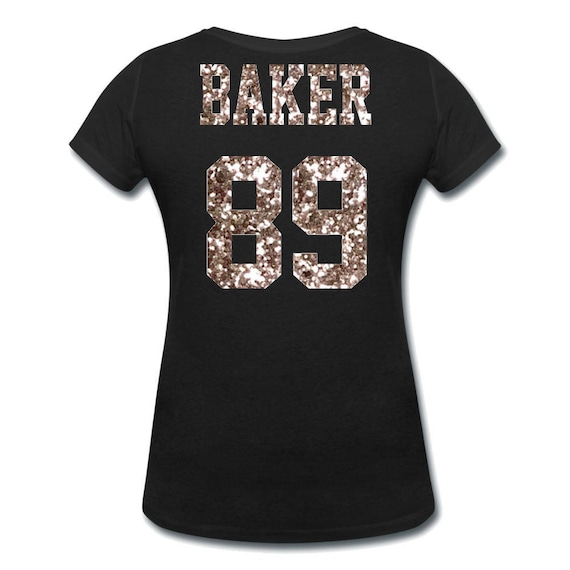 Customize your Glitter Team Jersey Shirt Ladies  Mom Tee with  5ebd198cf