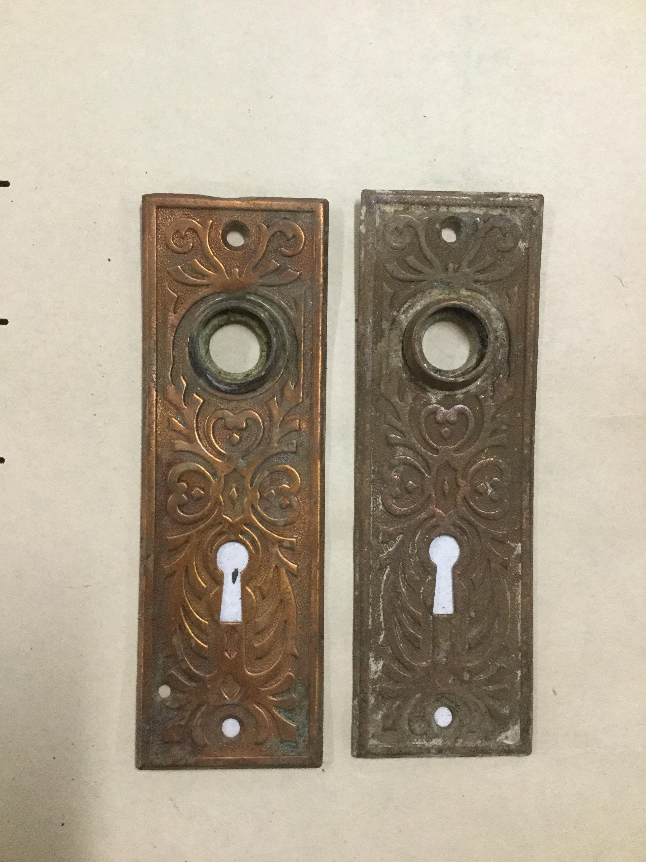 Antique Eastlake Door Plate, Gorgeous, Brass