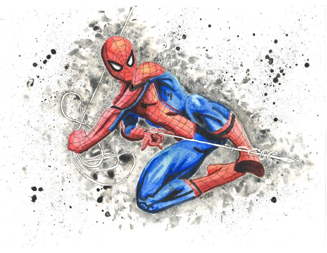 Spiderman Print Etsy