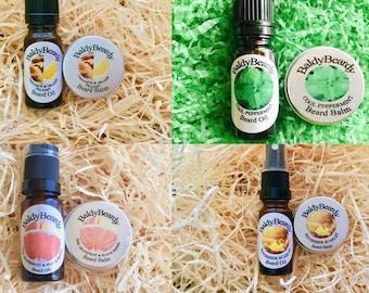 Beard oil and beard balm double combination packs. Beard care, grooming, maintenance packs for strong, healthy, shiny beard. Beard products